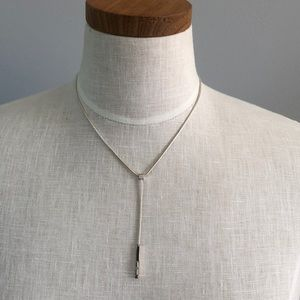 Necklace with drop stone pendant